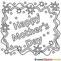 Happy Mother's Day Ausmalbild