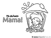 Malvorlage für die beste Mama der Welt