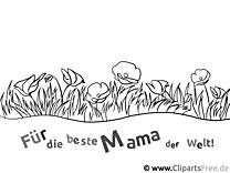 Malvorlage für Mama