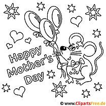 Mother's Day Karte zum Ausmalen