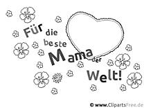 Muttertag Ausmalvorlage, Malvorlage, Malbild gratis