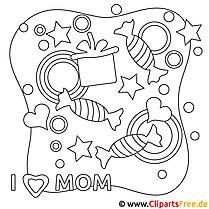 Muttertag Geschenk - downloaden, ausdrucken, ausmalen, schenken