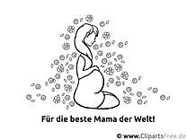 Schwangere Frau Ausmalvorlage, Malvorlage, Malbild gratis