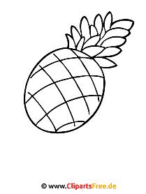 Ananas Ausmalbild - Ausmalbilder zum Ausmalen