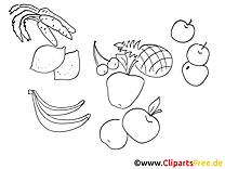Obst Gemüse Malvorlagen kostenlos