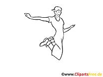 Junger Mann tanzt Party gratis Bilder zum Ausmalen