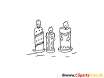 Kerzen Ausmalbilder