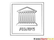 Athen Reisen Ausmalbild