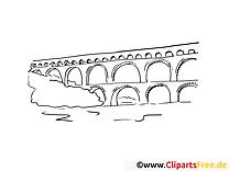 Brücke Reisen Ausmalbilder