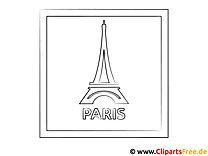Eiffelturm Paris Malvorlage