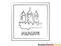 Prag Schloss Ausmalbild