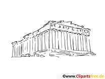 Reisen Athen Malvorlagen