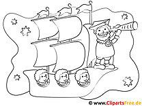 Schiffskapitän Fernglas Malvorlage
