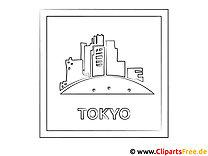 Tokio Japan Ausmalbild