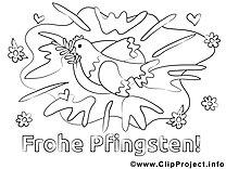 Frohe Pfingsten Malvorlagen kostenlos für Jung und Alt