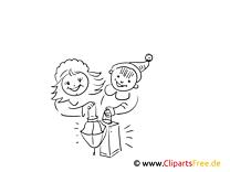 Ausmalbild Kinder beim Laternenumzug