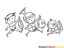 Kinder, Kindergarten Ausmalbild zum Runterladen und Drucken
