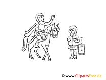 Sankt Martin mit Pferd zum Ausmalen
