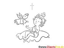 Engel Taufe kostenlose Ausmalbilder