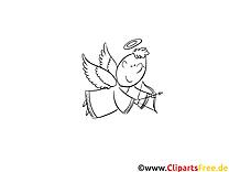 Engelchen Taufe kostenlose Ausmalbilder