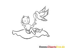 Getauftes Kind kostenlose Ausmalbilder