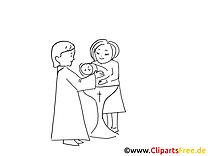 Taufe Malvorlagen und kostenlose Ausmalbilder
