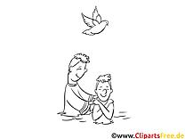 Taufpate kostenlose Ausmalbilder