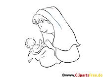 Taufpatin Ausmalbilder für Kinder kostenlos ausdrucken