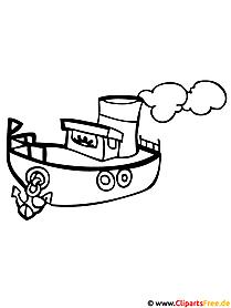 Dampfschiff Malvorlage gratis