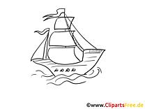 Flagge Wellen Kostenlose Malvorlagen von Schiffen und Booten