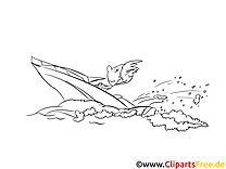 Motorboot Vorlage zum Ausmalen