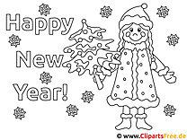 Ausmalbilder Neujahr