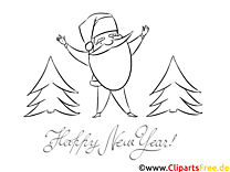 Bärte Tannenbaum Neujahr Ausmalbilder