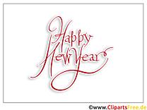 Feiertag Wünsche Neujahr Malvorlage gratis