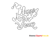 Free Colorings Happy New Year
