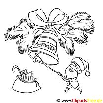 Glocke Sack Ausmalbild, Malvorlage zum Drucken und Ausmalen