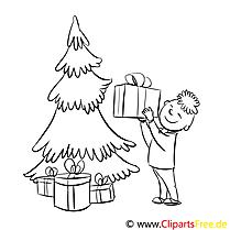 Junge Geschenk Malvorlage zum Drucken und Ausmalen