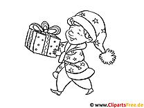 Kinder-Malvorlagen zum Drucken zum Silvester