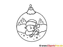 Kostenloses Malbild zu Weihnachten