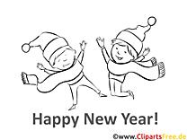 Schal Kinder Neujahr Ausmalbilder