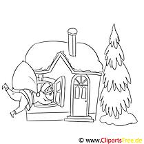 Tannenbaum Ausmalbild, Malvorlage zum Drucken und Ausmalen (10)