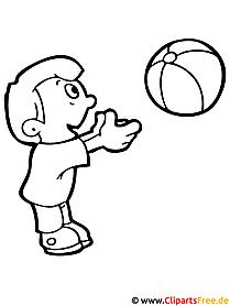 Ausmalvorlagen kostenlos Volleyball