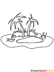 Strand clipart schwarz weiß  Sommer Malvorlagen kostenlos zum Ausdrucken