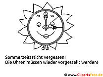 Malvorlage Sommerzeit gratis
