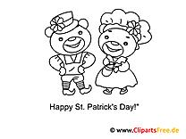 St. Patrick's Day Ausmalbilder Vorlagen zum Ausmalen