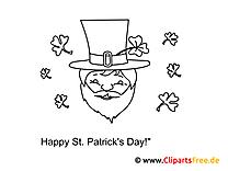 St. Patrick's Day kostenlose Bilder zum Ausmalen