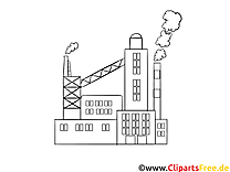 Fabrik Malvorlage, Bild, Grafik zum Ausmalen