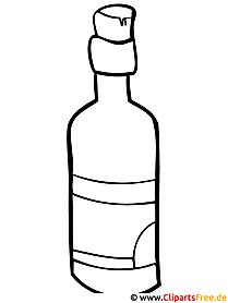 Flasche Malvorlage - Malvorlagen ausmalen kostenlos