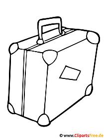 Koffer Bild - Fensterbild gratis