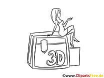 Kostenlose Malvorlage 3D-Printer